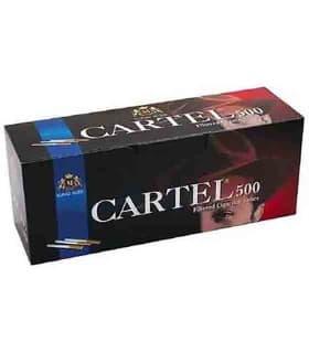 Τσιγαροσωλήνες Cartel Filtered Cigarette Tubes King Size των 500 - άδεια τσιγάρα - 1 Πακέτο