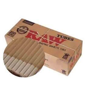 Τσιγαροσωλήνες RAW TUBES των 200 Ακατέργαστα - άδεια τσιγάρα - 1 Πακέτο